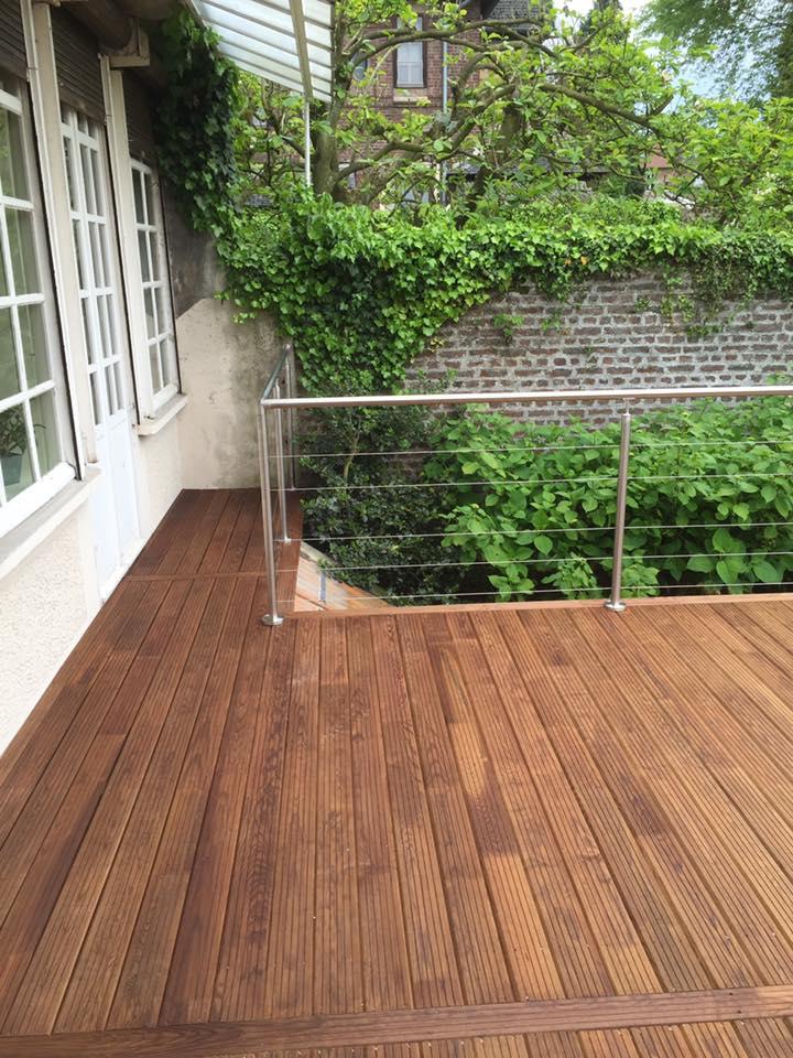 réalisation de terrasse en bois le parqueteur saint-quentin
